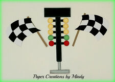 Craftecafe Mindy Sports Racing girl boy premade paper piecing for scrapbookpage