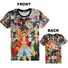 Anime One Piece Monkey D Luffy Clothing Casual Short Sleeve T-shirt Summer Tee