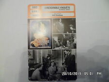 CARTE FICHE CINEMA 1952 L'INEXORABLE ENQUETE John Derek Donna Reed