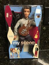 My Scene Boy Getting Ready Barbie New Doll River With A Guitar