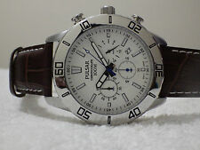 Pulsar Men's Chronograph Japan Movement PT3433 Brown Leather Strap Watch – NEW
