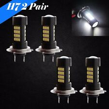 Combo 2 Pair H7 Samsung Chip LED 42 SMD White 6000K Headlight Bulb High Low Beam