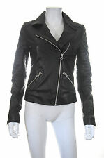 Scoop NYC Leather Motorcycle Jacket / Black / RRP: $595.00