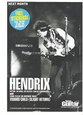 JIMI HENDRIX total guitar magazine PHOTO/Poster/clipping 11x8 inches