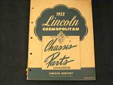 1952 Lincoln Cosmopolitan Chassis Parts Book Illust