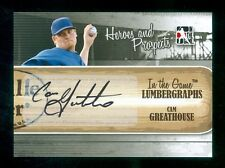 2011 ITG In the Game Heroes & Prospects Lumbergraph Autograph Cam Greathouse