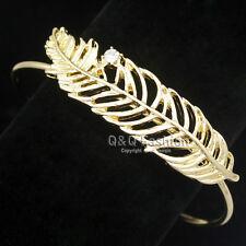 Western Cowgirl Filigree Leaf Feather Navajo Zuni Style Bracelet Bangle Cuff W5
