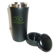 I2 HR INSULATED TRAVEL MUG VACUUM THERMAL FLASK Black hot drinks camping cup