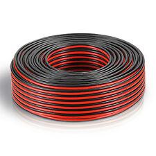100m (2 Ringe je 50m) Zwillingslitze 2x 0,75mm² Kabel rot/schwarz 2-adrig