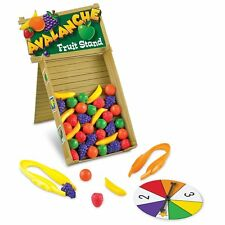 Avalanche Fruit Stand Game Learning Resources Tweezers Toys Kids Count Color New