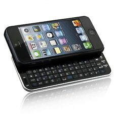 New Bluetooth Wireless Slideout Keyboard Case for Apple iPhone SE 5S 5 - Blackl