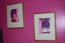 Pair of Russell Coulson framed, pastel boudoir paintings