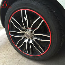 FM US! RED Rubber RIM Wheel Protector FITS 4 RIMS Car Vehicle Tire Guard Line