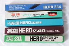 Lot of 5 Pcs New Old Stock HERO Fountain Pen 221 240 251 330 334 Wing Sung China