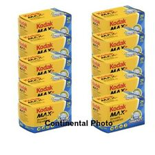 10 Rolls Kodak GC 135-24 Max 400 Color Print 35mm Film ISO 400