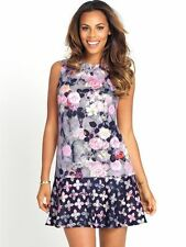Rochelle Humes Drop Hem Printed Scuba Dress  Size 14
