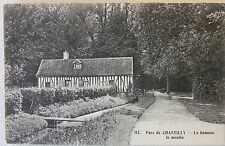 Vintage Postcard Parc de Chantilly - Le hameau le moulin France Carte Postale