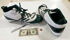 ADIDAS  Size 16 Men's Baseball Shoes Cleats - White & Green Big & Tall New