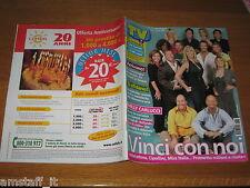 TV SORRISI E CANZONI=2005/37=MILLY CARLUCCI=MAURIZIO COSTANZO=CARLO LUCARELLI=