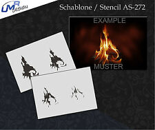 Step by Step Airbrush Stencil AS-272 M ~ Real Flames ~ True Fire~ UMR-Design