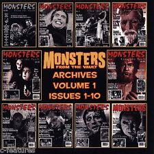 MONSTERS FROM THE VAULT Archives #1-10 Digital Copies OFFICIAL CD-ROM