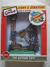 Simpsons Itchy and Scratchy  Pain O Meter tin toy
