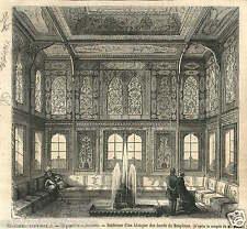 Exposition Universelle de Paris Pavillon Turquie Turkey  GRAVURE OLD PRINT 1867