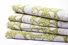 2.5 Yards Cotton Voile Hand Block Print Fabric Natural Dyes Sanganer Indian 277