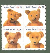 3653-56 Teddy Bears Block Of 4 Mint/nh (free shipping offer)