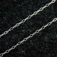 5 Feet Sterling Silver Flat Oval Long and Short 4.5x2.5mm, USA