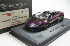1/18 MAKE UP LAMBORGHINI HURACAN SPYDER ANDROMEDA CHAMELEON COLOR N BBR MR