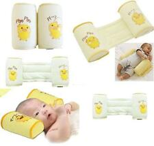 Baby Safe Newborn Sleep Positioner Prevent Flat Head Shape Anti Roll Pillow New