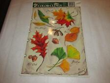 Vintage Color Clings Static Window Decoration  Fall New acorn leaves Autumn