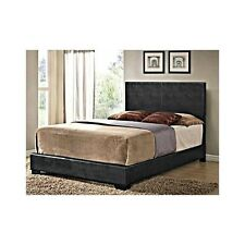 QUEEN SIZE BED Faux Black Leather Headboard Bedroom Furniture Dorm Apartment Qn