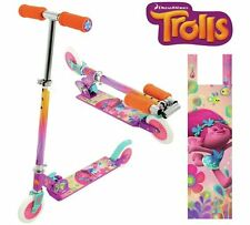 Children Kids Trolls Adjustable In-Line Folding Scooter with Graphics-Colors