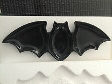 Fitz & Floyd Halloween Bat Sectioned Serving Dish, Black new in box