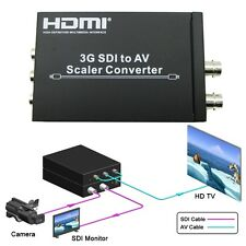 SD HD & 3G SDI to Composite RCA Video + L/R Analog Stereo Audio Converter Scaler