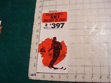 Vintage High Grade SKI brochure: ITALY--bargain hunters SKI holdiay in Italy '71