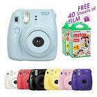 Blue Fuji instax mini 8 Fujifilm instant Polaroid Camera + Free Films 40