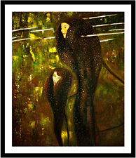 Mermaids by Gustav Klimt 75cm x 62.5cm Framed Black