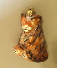 CHRISTBORN Tiger Christmas Tree Ornament Wild Cat Glass Made In Germany