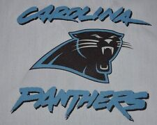 1 Carolina Panthers FOOTBALL SEWING BLOCK QUILT SQUARE Fabric Material Quilting