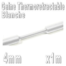 Gaine Thermo Rétractable 2:1 - Diam. 4 mm - Blanc - 1m