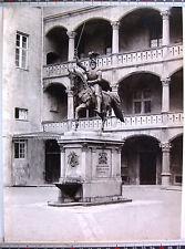 PHOTO 1900 H BRANDSEPH STUTTGART ALLEMAGNE STATUE EQUESTRE KOENIG WILHELM j174