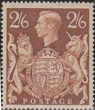 (KR2) 1939 GB 2/6d brown KGVI MUH (creased)