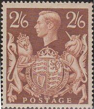 (KR2) 1939 GB 2/6d brown KGVI MUH (creased)