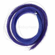 1 HANK OF REAL HORSE HAIR, BLUE, FOR 4/4 VIOLIN BOW OR OTHER USE , UK SELLER!!!