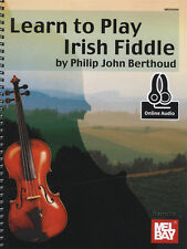 Learn How To Play Irish Fiddle Method Sheet Music Book/DLC Philip Berthoud