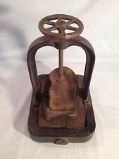 ANTIQUE LAMAC BULLDOG GRIP SHOE PRESS CAST IRON LOS ANGELES CALIFORNIA