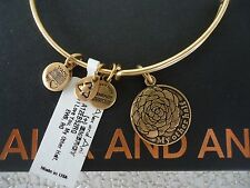 Alex and Ani MY OTHER HALF Russian Gold Finish Charm Bangle New W/Tag Card & Box